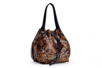 WOMAN LEATHER SNAKE HANDBAG